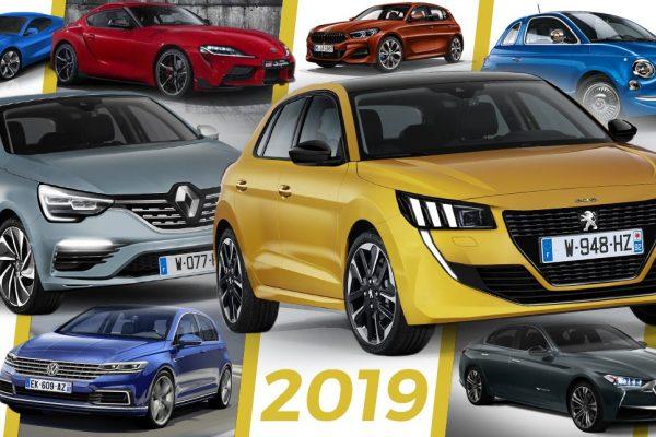 Les nouveaux voitures de 2019